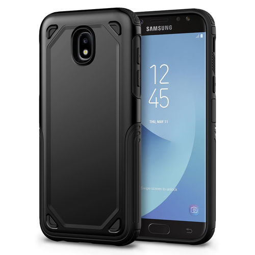 Hybrid Guard Shockproof Plate Case for Samsung Galaxy J5 Pro - Black